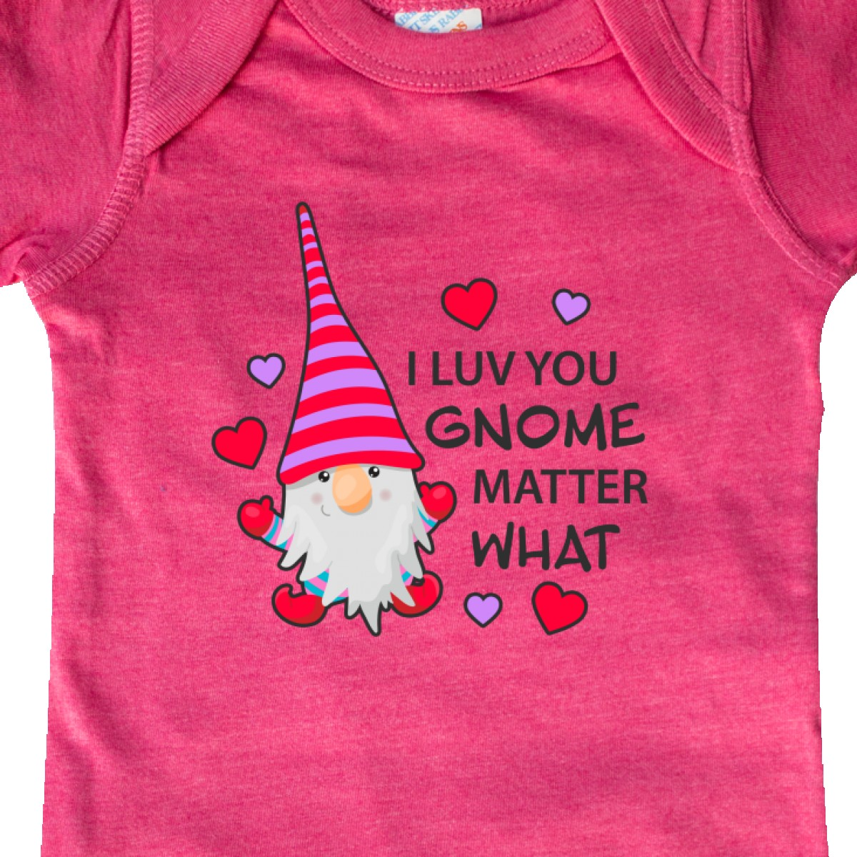 Inktastic-I-Luv-You-Gnome-Matter-What-With-Gnome-And-Hearts-Infant-Creeper-Love 縮圖 24