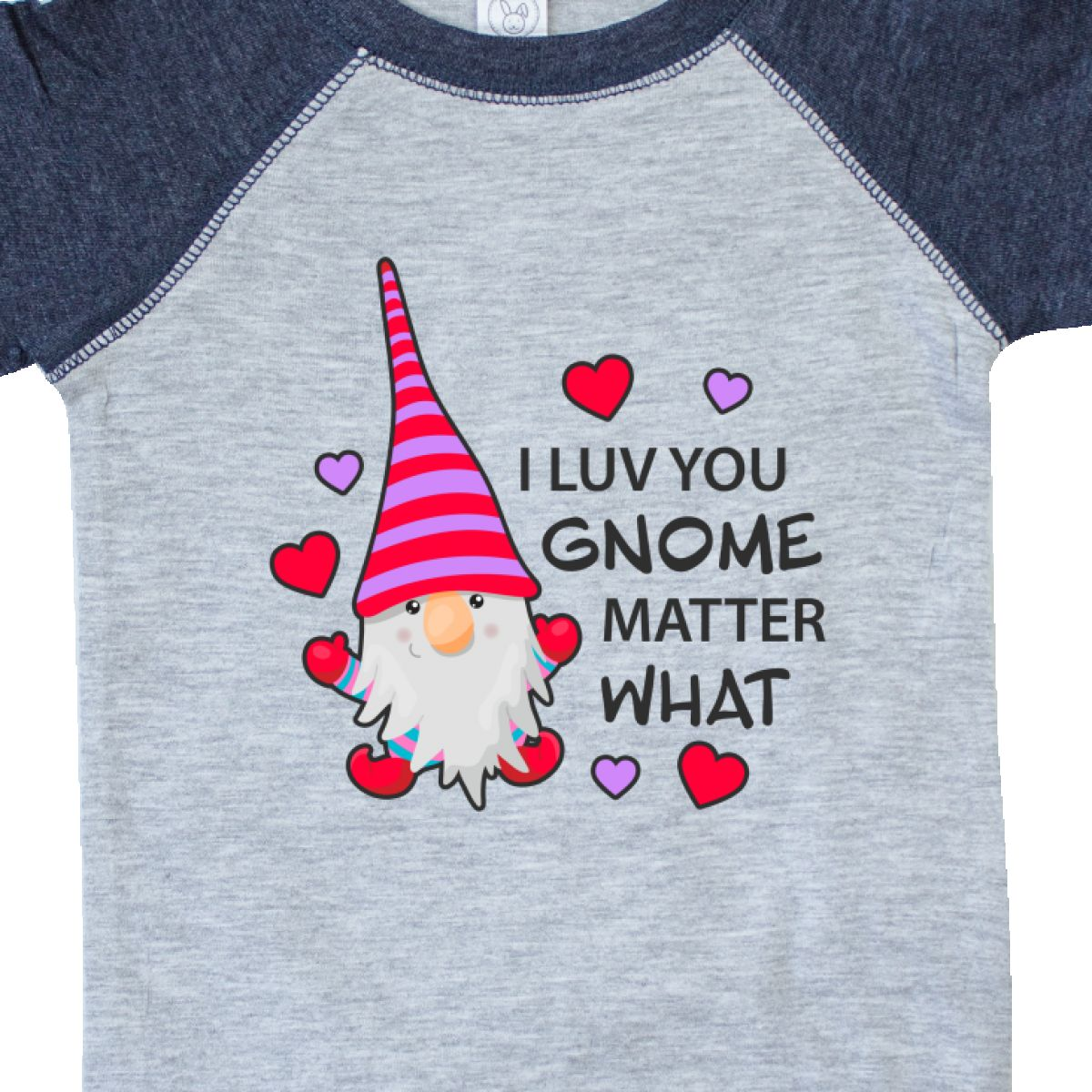Inktastic-I-Luv-You-Gnome-Matter-What-With-Gnome-And-Hearts-Infant-Creeper-Love 縮圖 28