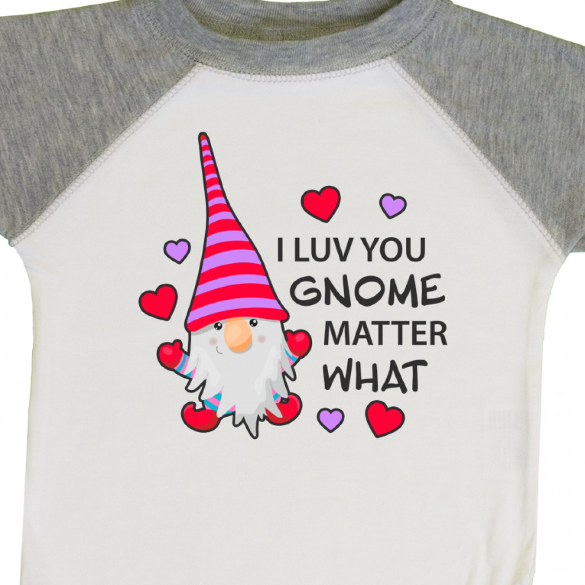Inktastic-I-Luv-You-Gnome-Matter-What-With-Gnome-And-Hearts-Infant-Creeper-Love 縮圖 32