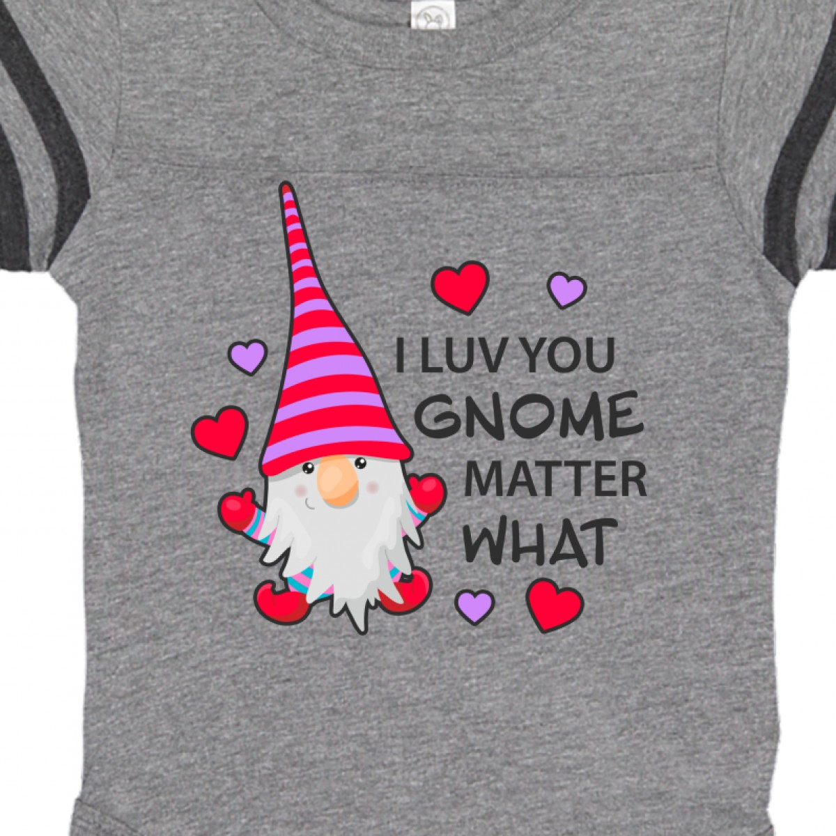 Inktastic-I-Luv-You-Gnome-Matter-What-With-Gnome-And-Hearts-Infant-Creeper-Love 縮圖 8
