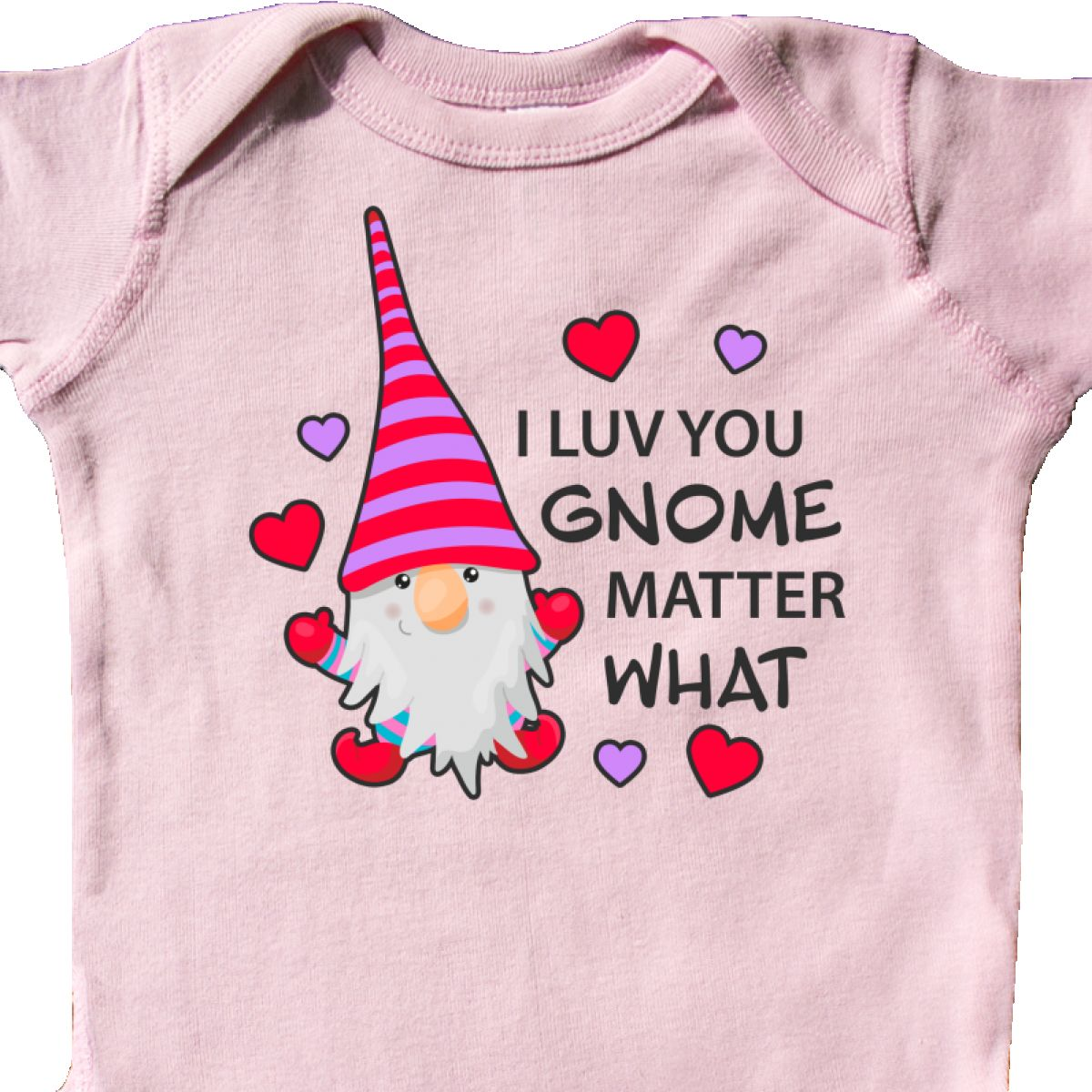 Inktastic-I-Luv-You-Gnome-Matter-What-With-Gnome-And-Hearts-Infant-Creeper-Love 縮圖 18