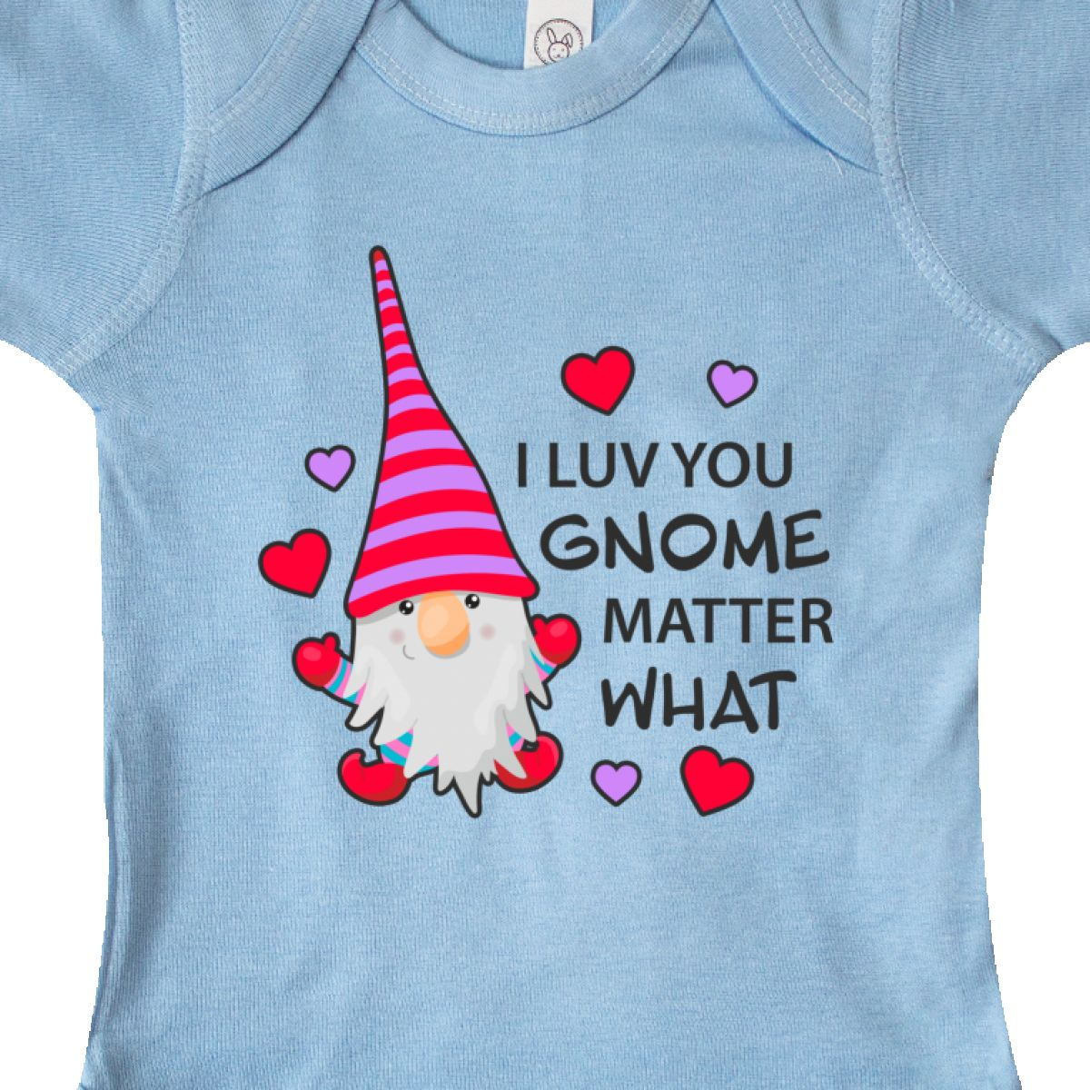 Inktastic-I-Luv-You-Gnome-Matter-What-With-Gnome-And-Hearts-Infant-Creeper-Love 縮圖 6