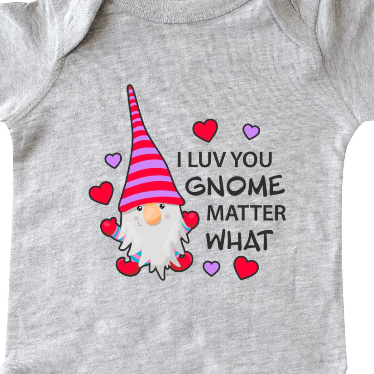 Inktastic-I-Luv-You-Gnome-Matter-What-With-Gnome-And-Hearts-Infant-Creeper-Love 縮圖 14