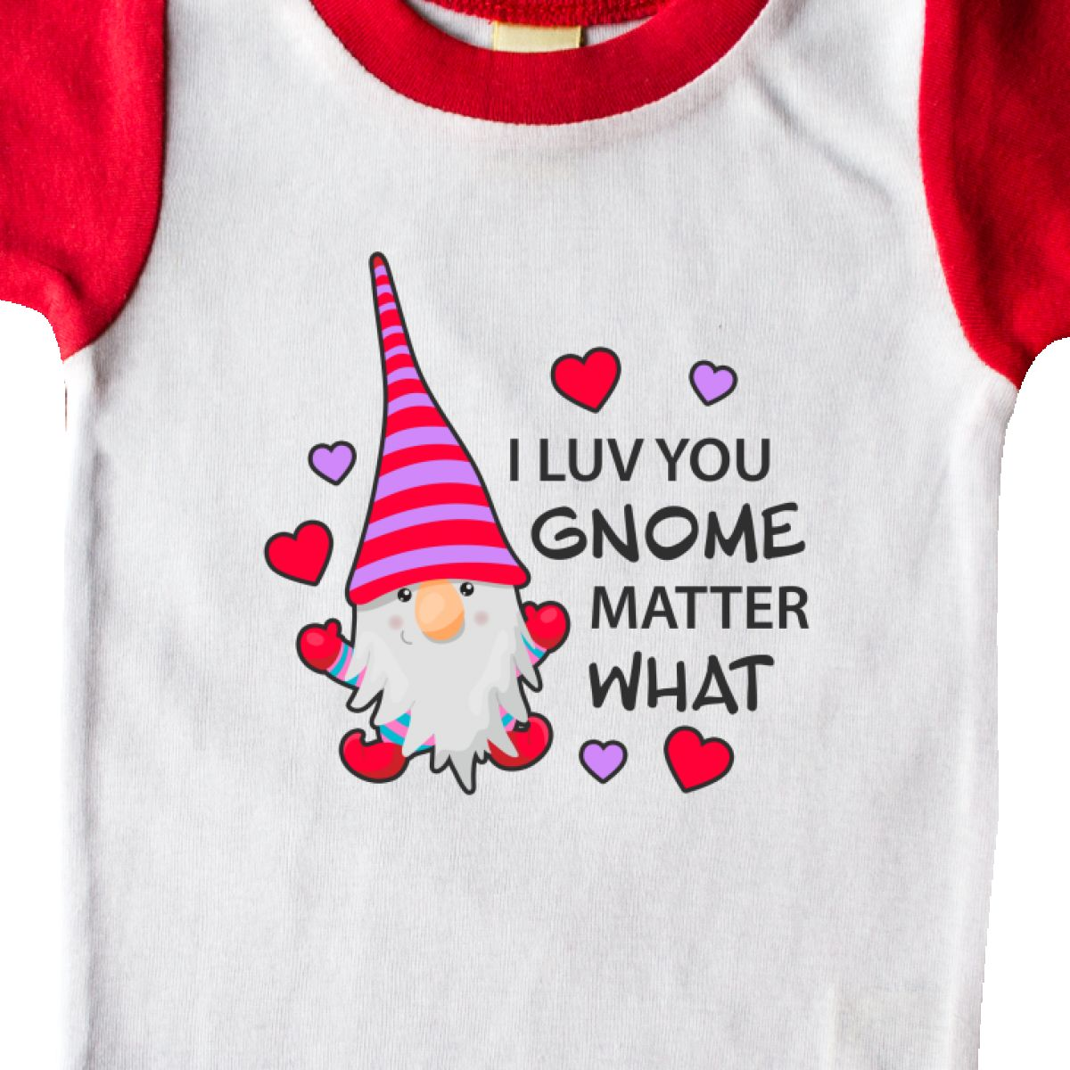 Inktastic-I-Luv-You-Gnome-Matter-What-With-Gnome-And-Hearts-Infant-Creeper-Love 縮圖 34