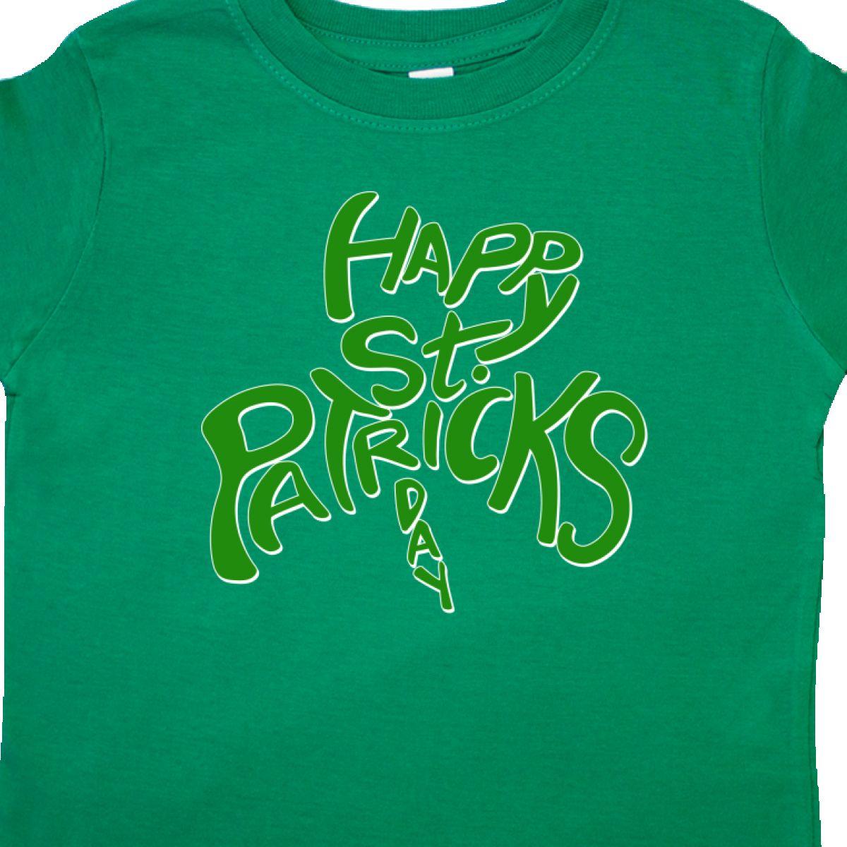 Inktastic-Happy-St-Patrick-039-s-Day-Green-Shamrock-Shape-Toddler-T-Shirt-Patrick thumbnail 4