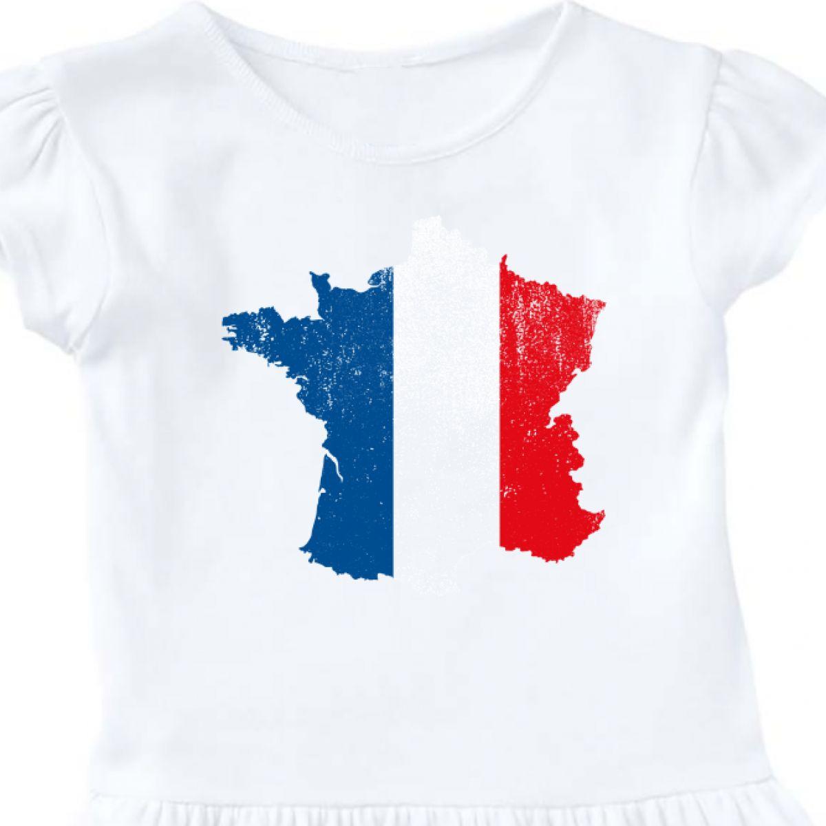 France Map Flag.Inktastic French Map Flag Infant Dress France Pride Distressed
