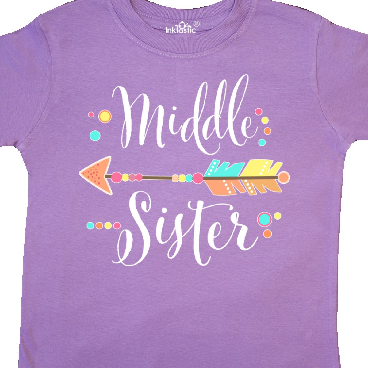 inktastic Little Sister with Bow and Arrow Toddler T-Shirt