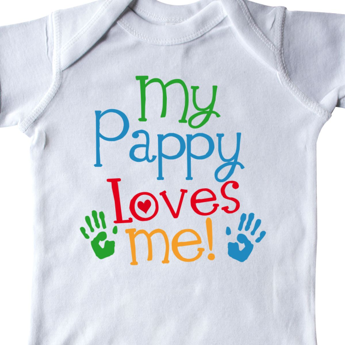 inktastic My Mommy Loves Me with Hearts and Kiss Baby T-Shirt