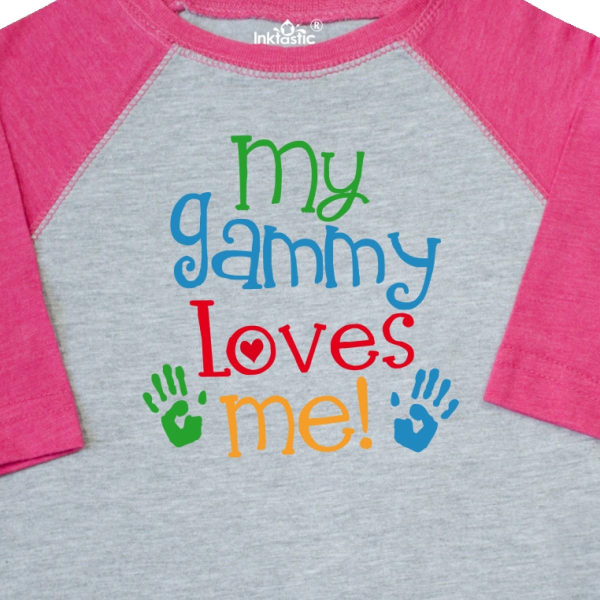 Inktastic-My-Gammy-Loves-Me-Gift-Toddler-T-Shirt-Boys-Girls-Grandchild-Grandson thumbnail 6