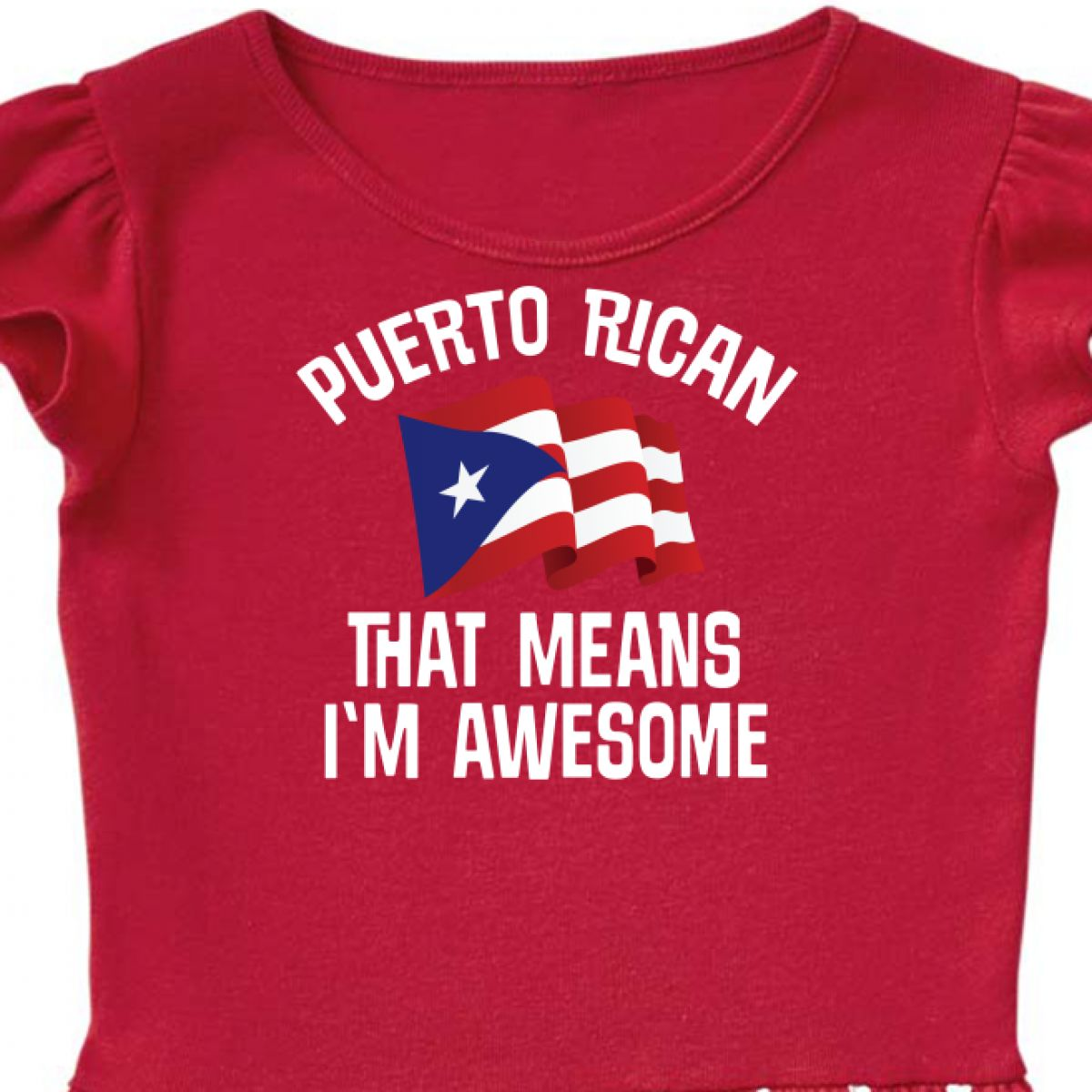 Inktastic Puerto Rican Awesome Infant Tutu Bodysuit From Proud Pride Travel City