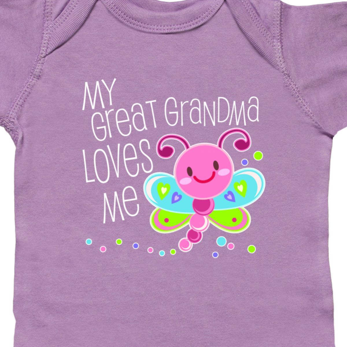 Inktastic-My-Great-Grandma-Loves-Me-Cute-Dragonfly-Infant-Bodysuit-Family-Bug