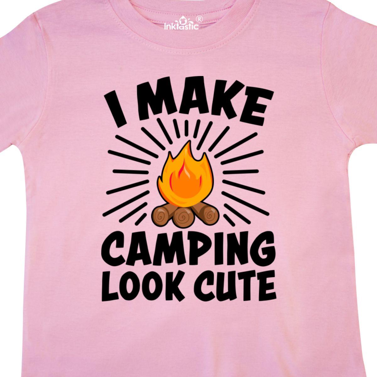 Inktastic-I-Make-Camping-Look-Cute-Toddler-T-Shirt-Love-Outdoors-Nature-Campfire thumbnail 6