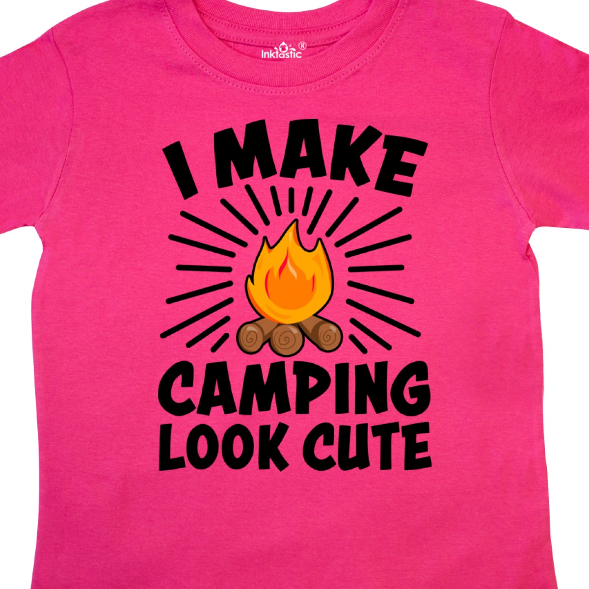 Inktastic-I-Make-Camping-Look-Cute-Toddler-T-Shirt-Love-Outdoors-Nature-Campfire thumbnail 4