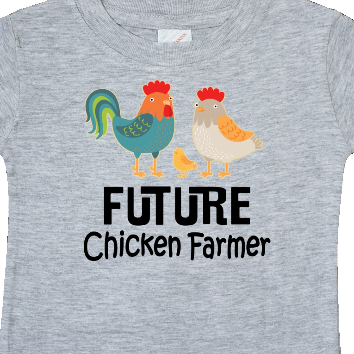 Inktastic-Future-Chicken-Farmer-Childs-Baby-T-Shirt-Lover-Animals-Cute-Pets-Tees thumbnail 4