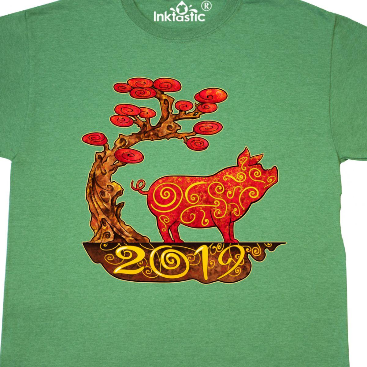 Inktastic-2019-Year-Of-The-Pig-T-Shirt-Years-Chinese-Zodiac-Symbol-Animal-Fun