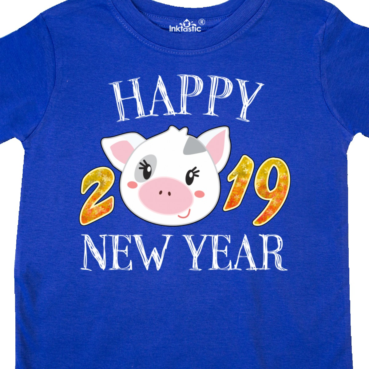 c662ba159 Inktastic Happy New Year 2019 Cute Pig Toddler T-Shirt Years Of ...