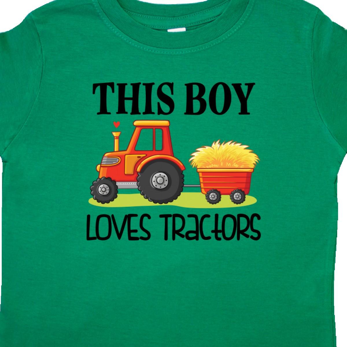 Inktastic-Farming-Cute-Boy-Loves-Tractors-Toddler-T-Shirt-Farm-Childs-Toys-Kids thumbnail 10