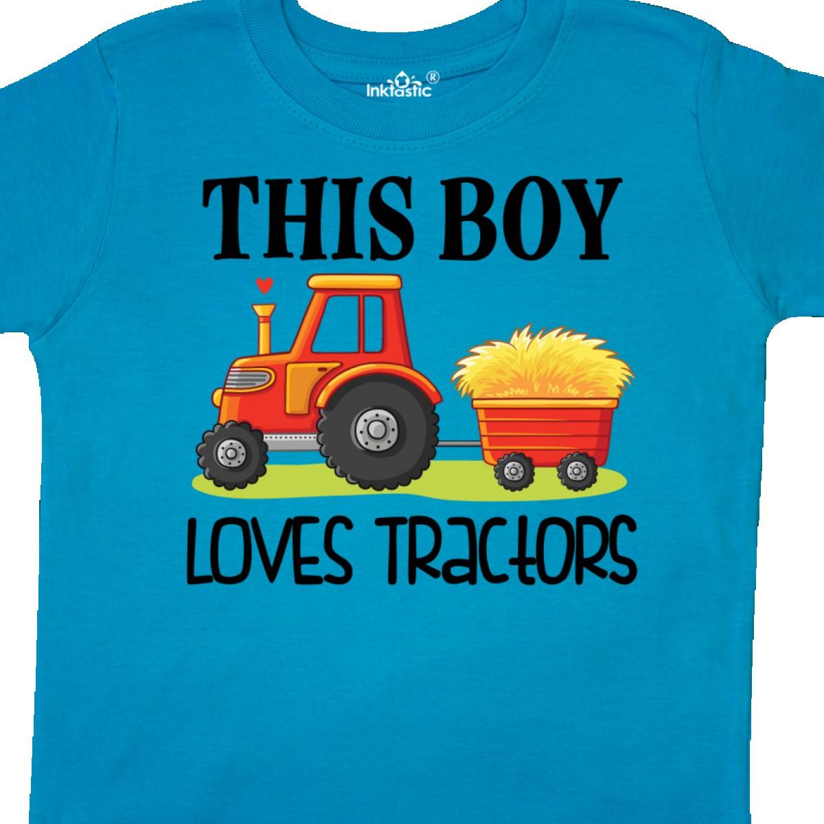Inktastic-Farming-Cute-Boy-Loves-Tractors-Toddler-T-Shirt-Farm-Childs-Toys-Kids thumbnail 18