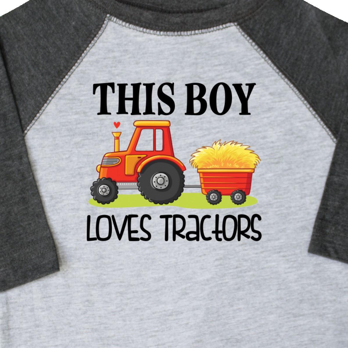 Inktastic-Farming-Cute-Boy-Loves-Tractors-Toddler-T-Shirt-Farm-Childs-Toys-Kids thumbnail 4