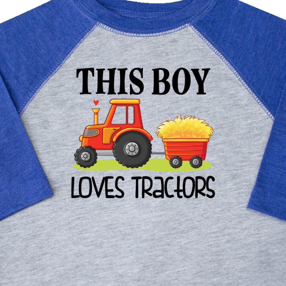 Inktastic-Farming-Cute-Boy-Loves-Tractors-Toddler-T-Shirt-Farm-Childs-Toys-Kids thumbnail 6