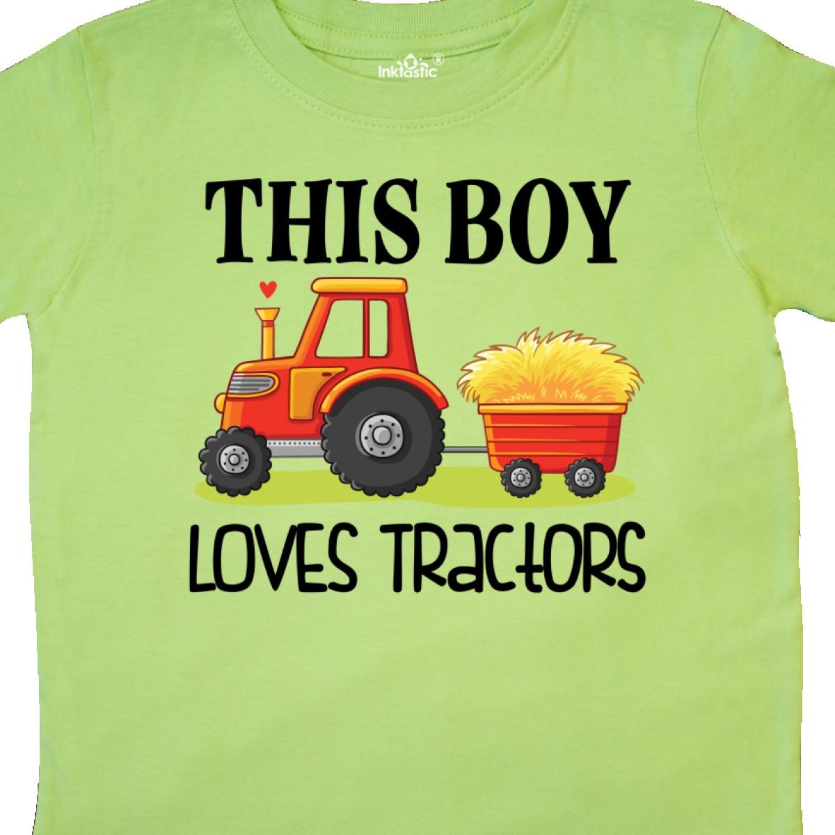 Inktastic-Farming-Cute-Boy-Loves-Tractors-Toddler-T-Shirt-Farm-Childs-Toys-Kids thumbnail 12