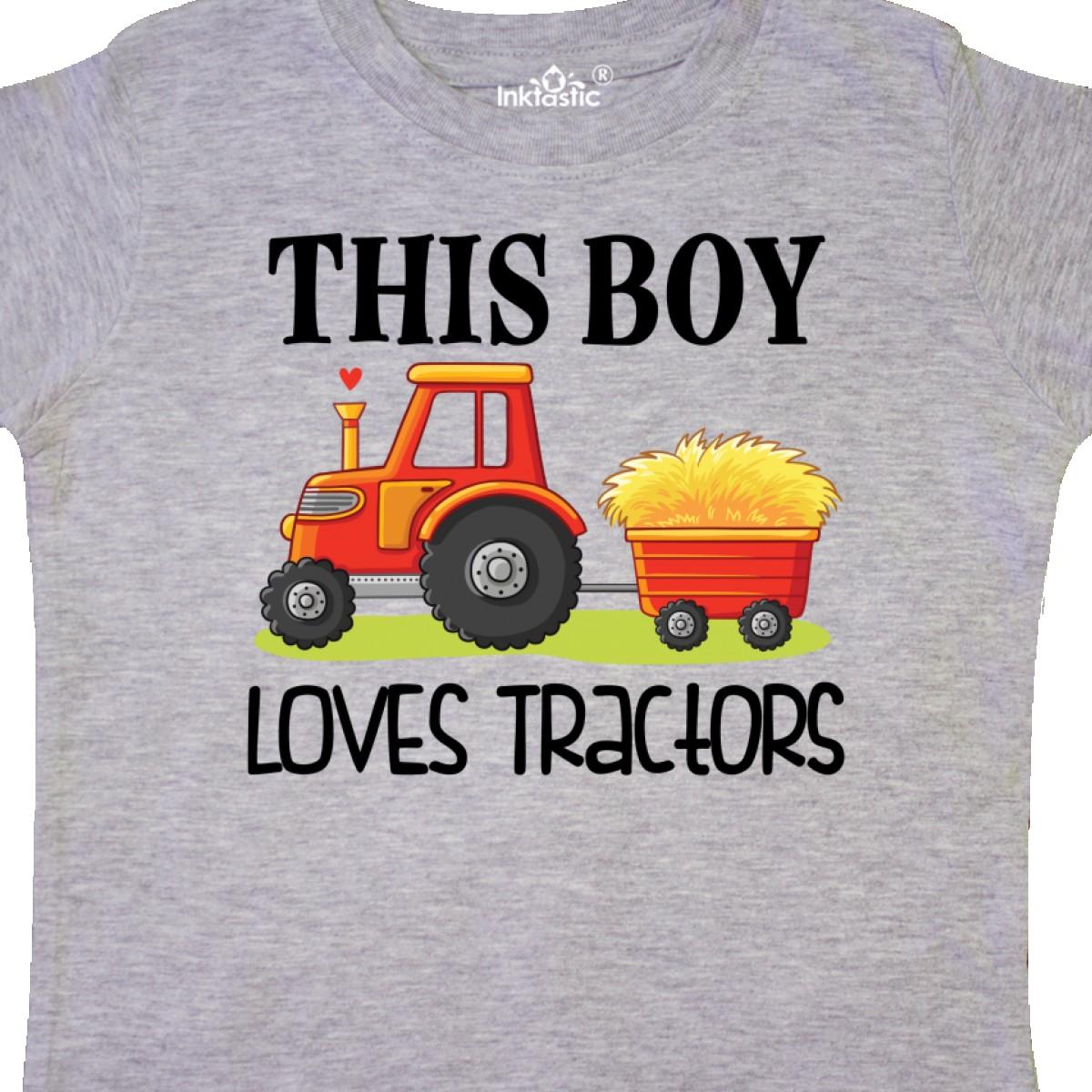 Inktastic-Farming-Cute-Boy-Loves-Tractors-Toddler-T-Shirt-Farm-Childs-Toys-Kids thumbnail 8