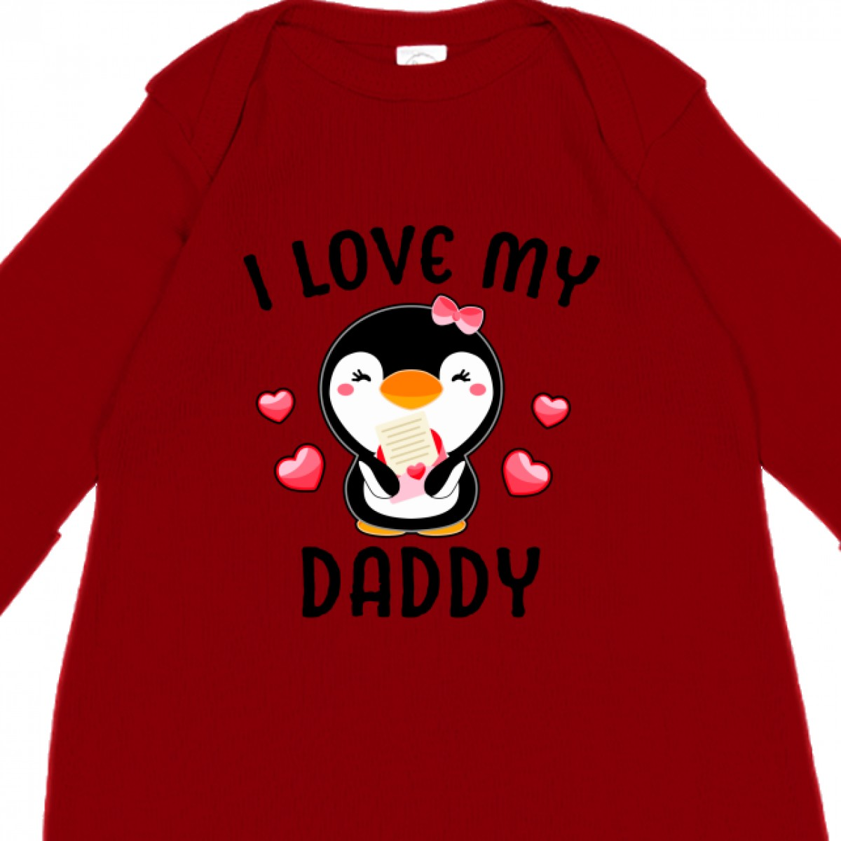 inktastic I Love My Glamma with Cute Penguin and Hearts Toddler T-Shirt