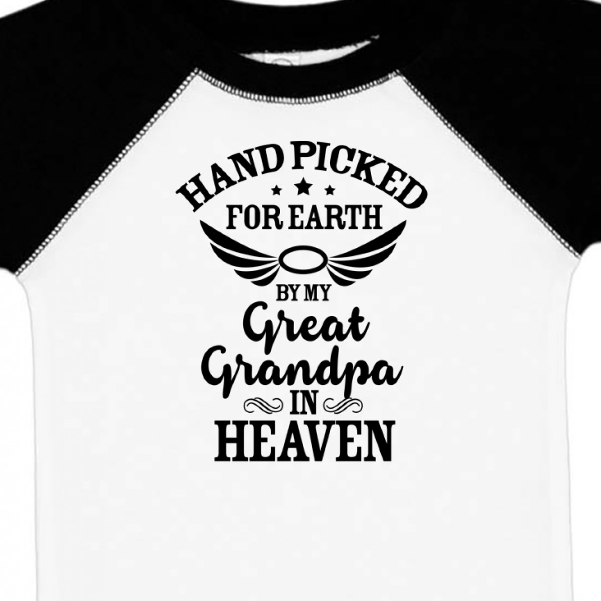 Inktastic Handpicked For Earth By My Great Grandpa In Heaven Infant Creeper Halo