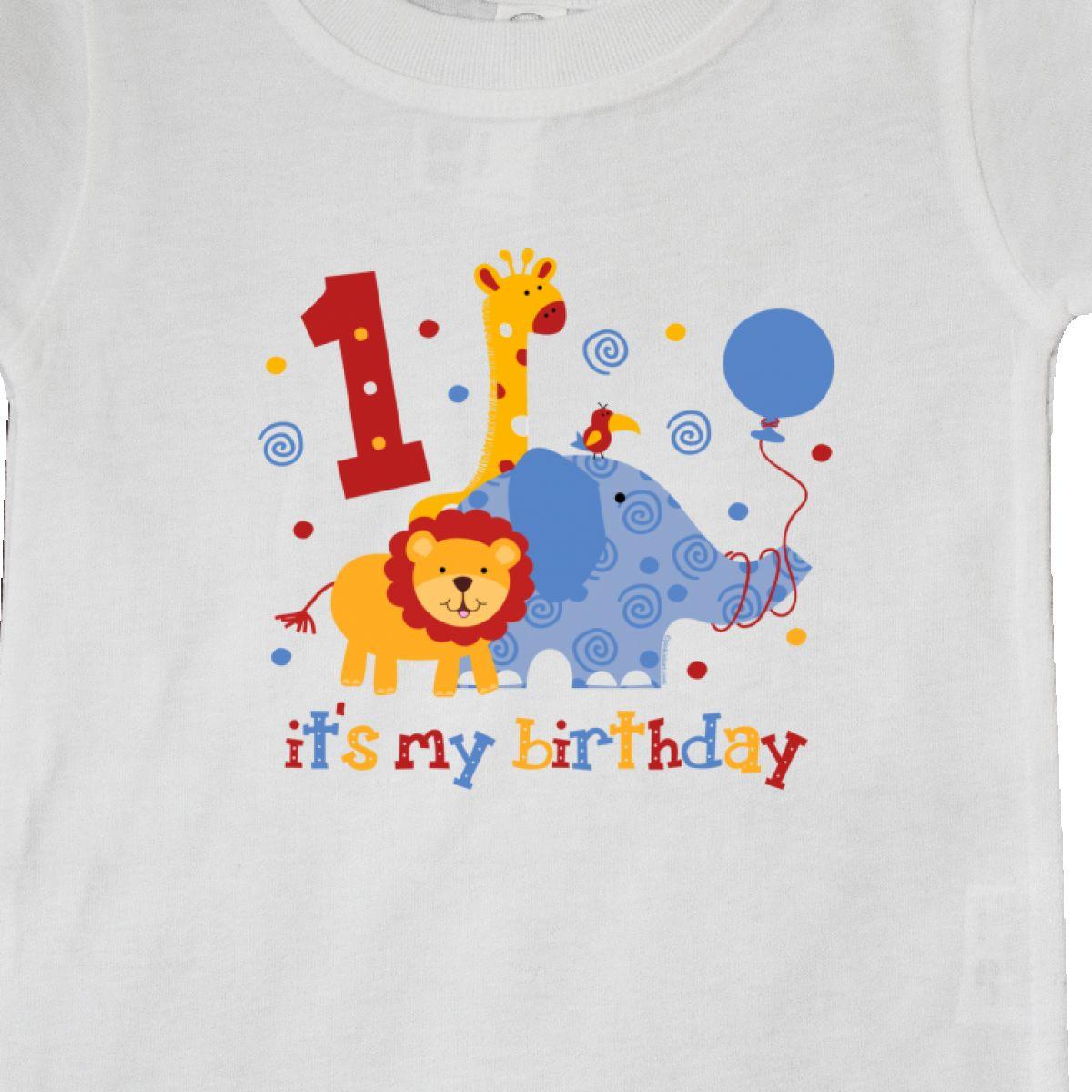 Inktastic-Safari-1st-Birthday-Baby-T-Shirt-Jungle-Lion-Elephant-Giraffe-Toucan thumbnail 12