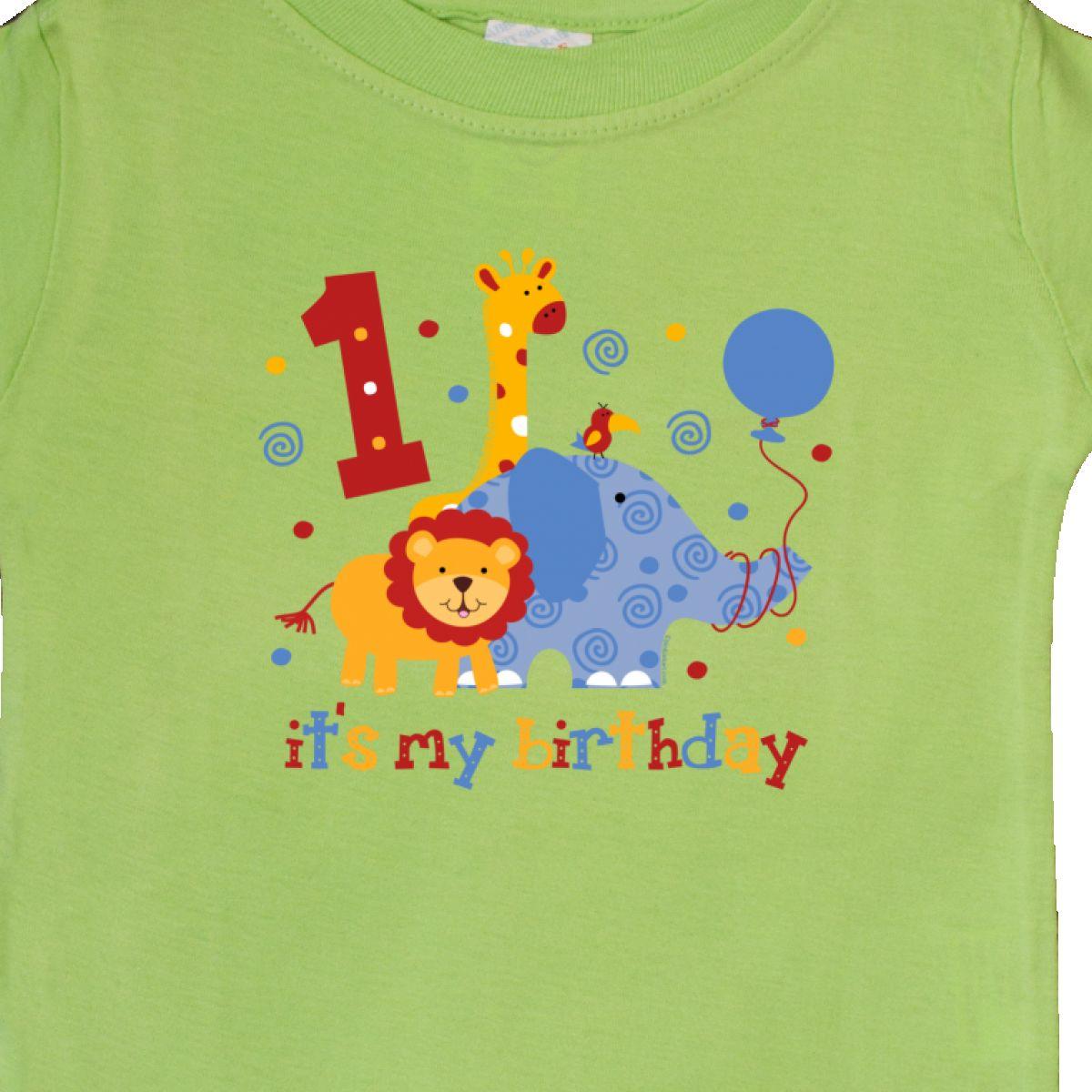 Inktastic-Safari-1st-Birthday-Baby-T-Shirt-Jungle-Lion-Elephant-Giraffe-Toucan thumbnail 10