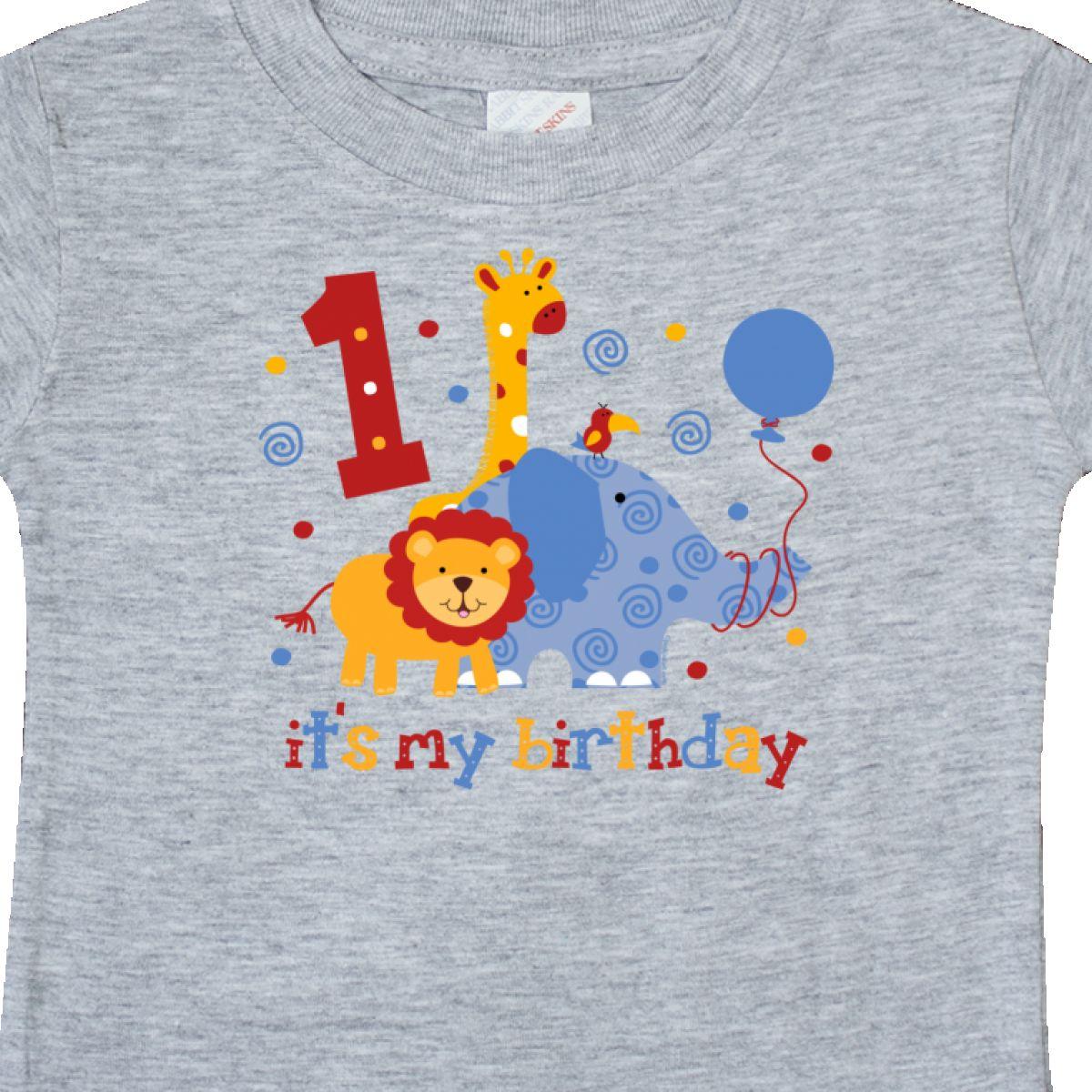 Inktastic-Safari-1st-Birthday-Baby-T-Shirt-Jungle-Lion-Elephant-Giraffe-Toucan thumbnail 6