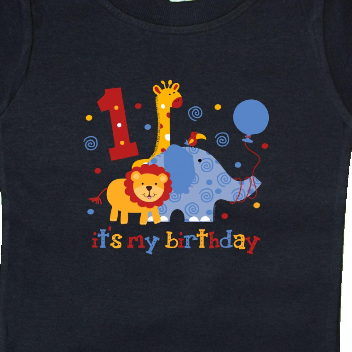 Inktastic-Safari-1st-Birthday-Baby-T-Shirt-Jungle-Lion-Elephant-Giraffe-Toucan thumbnail 4