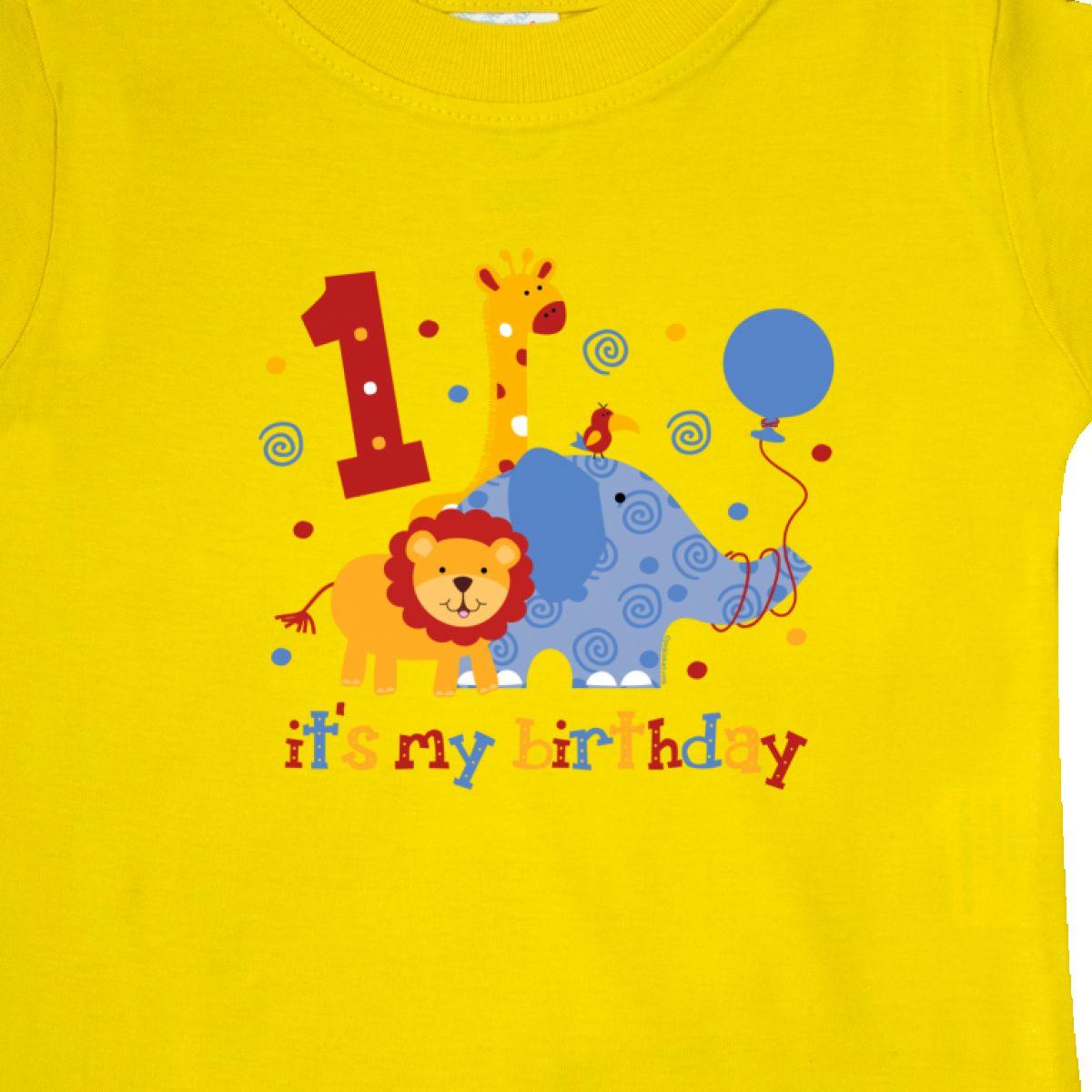 Inktastic-Safari-1st-Birthday-Baby-T-Shirt-Jungle-Lion-Elephant-Giraffe-Toucan thumbnail 14