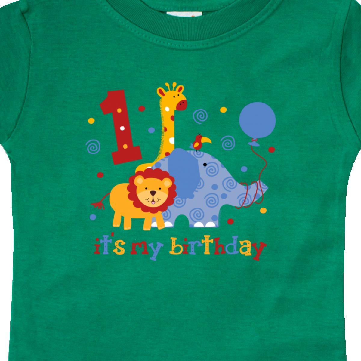 Inktastic-Safari-1st-Birthday-Baby-T-Shirt-Jungle-Lion-Elephant-Giraffe-Toucan thumbnail 8