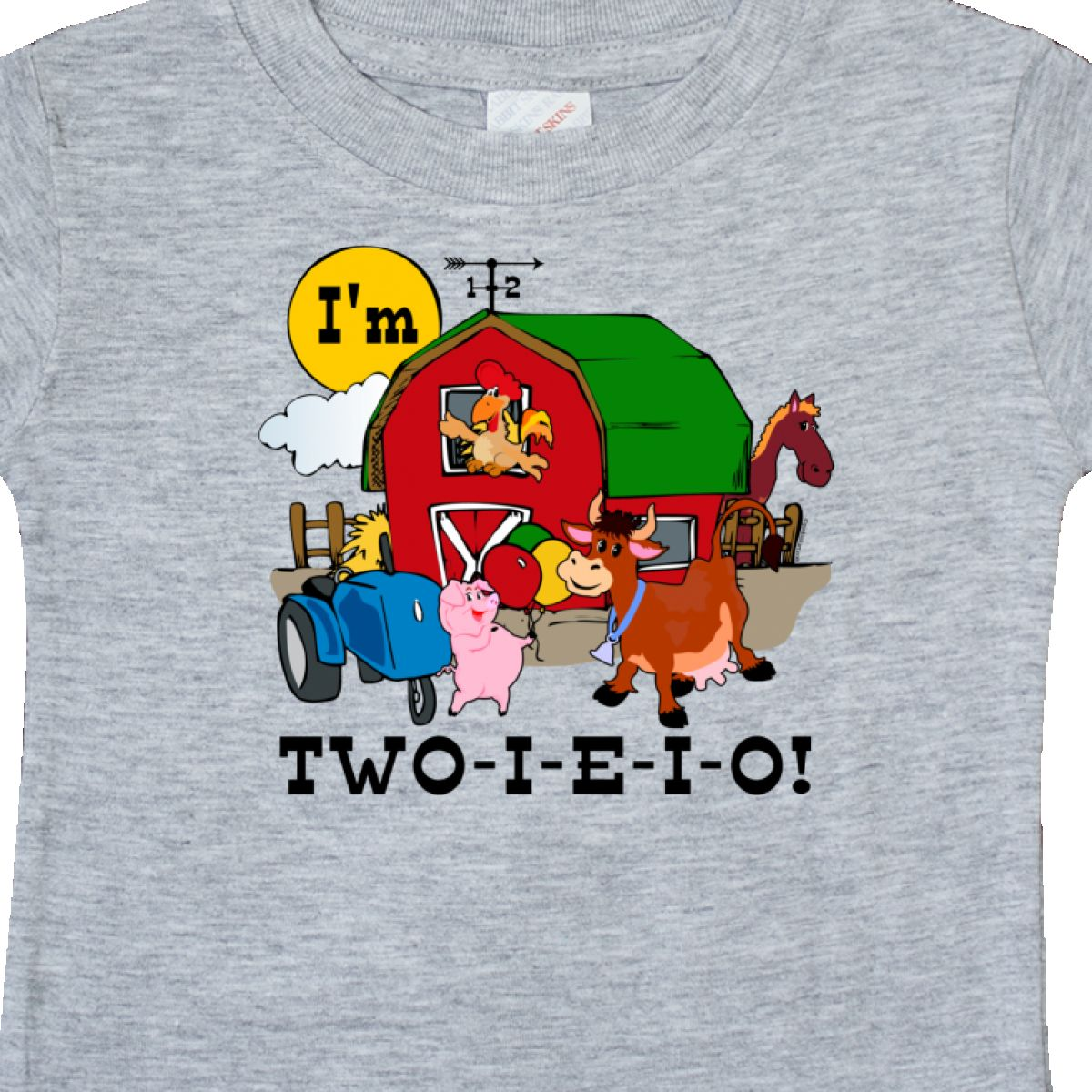 Inktastic TWO I E O Baby T Shirt 2nd Birthday