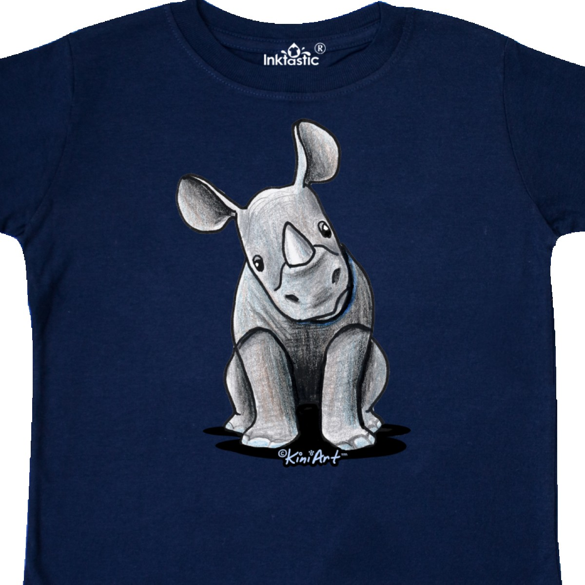 Inktastic-Curious-Rhinos-Toddler-T-Shirt-KiniArt-Rhino-Rhinoceros-Art-Cartoon thumbnail 22