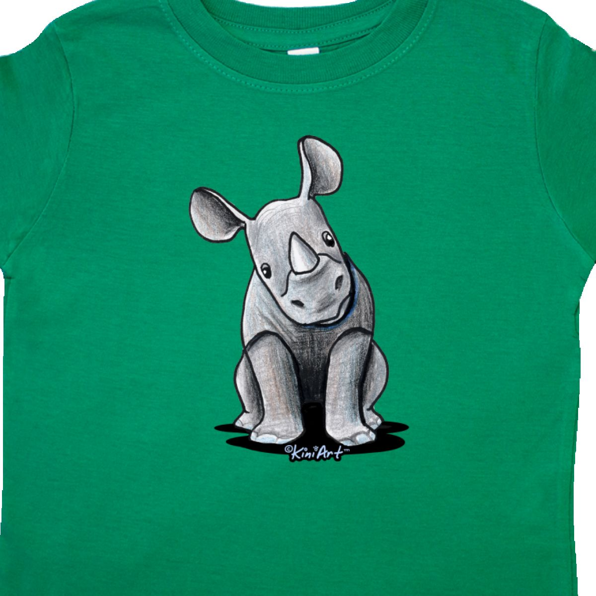 Inktastic-Curious-Rhinos-Toddler-T-Shirt-KiniArt-Rhino-Rhinoceros-Art-Cartoon thumbnail 16