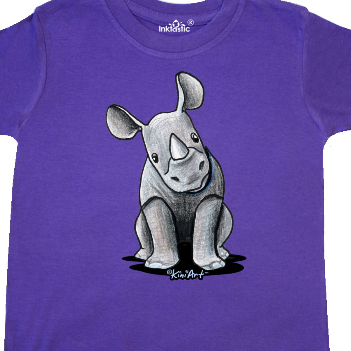 Inktastic-Curious-Rhinos-Toddler-T-Shirt-KiniArt-Rhino-Rhinoceros-Art-Cartoon thumbnail 26