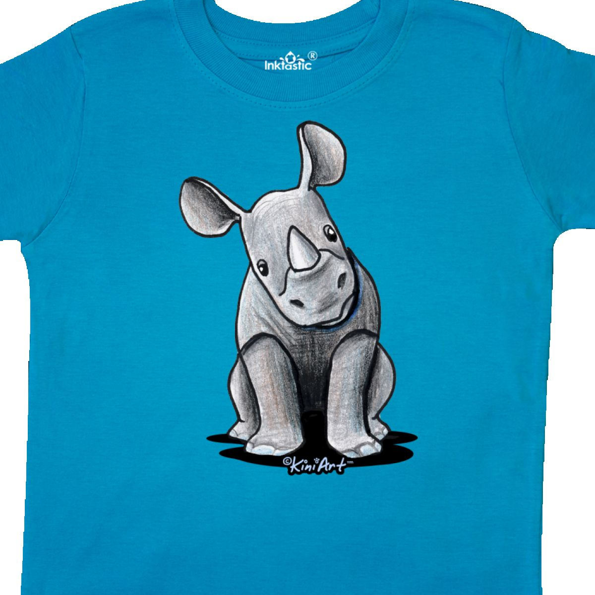 Inktastic-Curious-Rhinos-Toddler-T-Shirt-KiniArt-Rhino-Rhinoceros-Art-Cartoon thumbnail 32