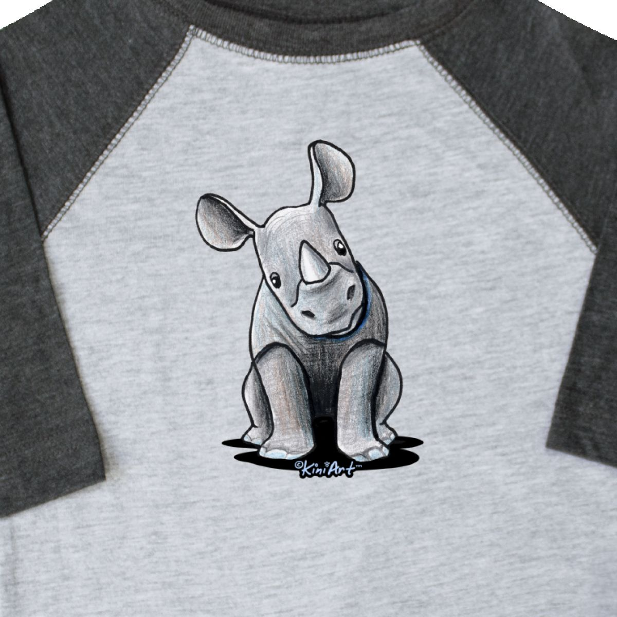 Inktastic-Curious-Rhinos-Toddler-T-Shirt-KiniArt-Rhino-Rhinoceros-Art-Cartoon thumbnail 4