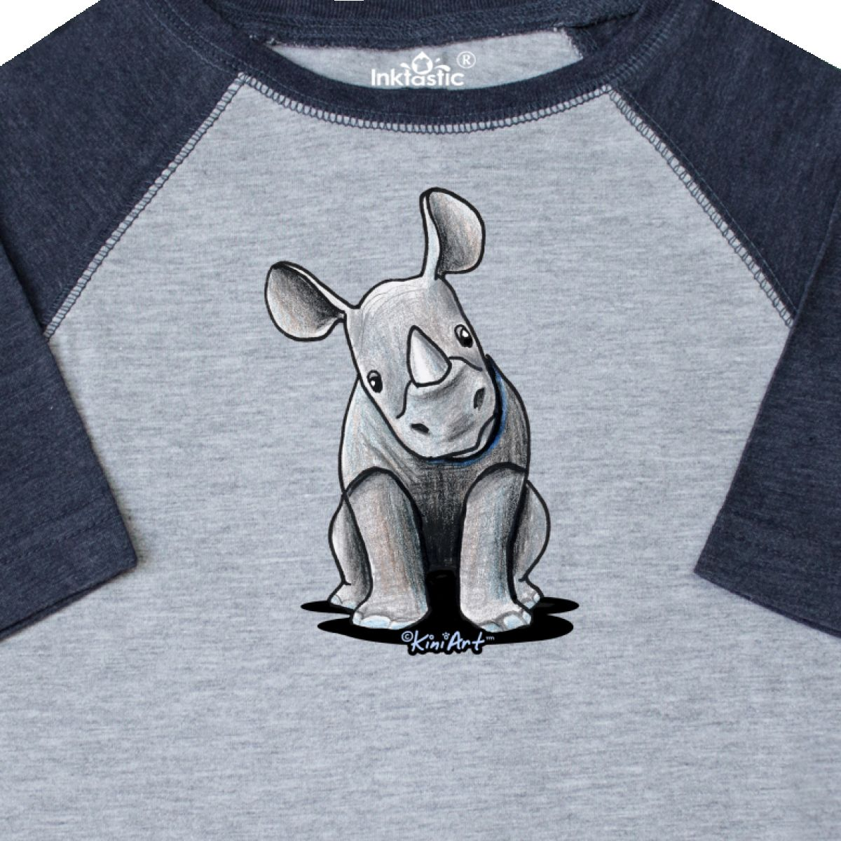 Inktastic-Curious-Rhinos-Toddler-T-Shirt-KiniArt-Rhino-Rhinoceros-Art-Cartoon thumbnail 10