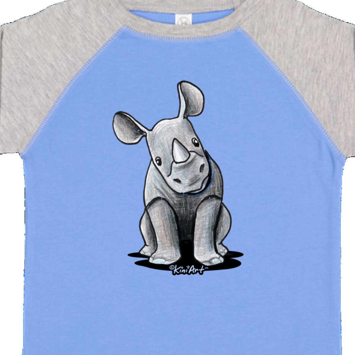 Inktastic-Curious-Rhinos-Toddler-T-Shirt-KiniArt-Rhino-Rhinoceros-Art-Cartoon thumbnail 8