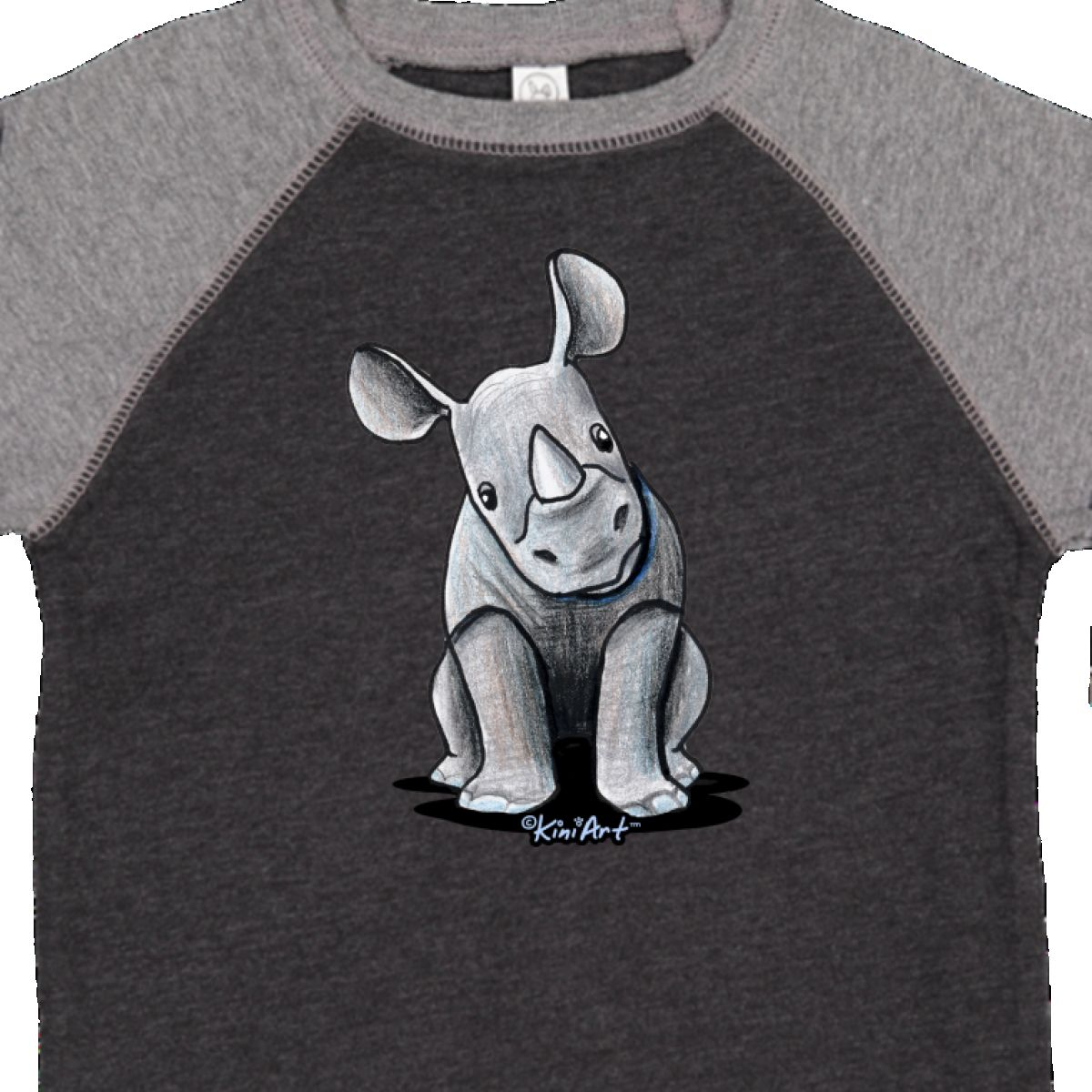 Inktastic-Curious-Rhinos-Toddler-T-Shirt-KiniArt-Rhino-Rhinoceros-Art-Cartoon thumbnail 30