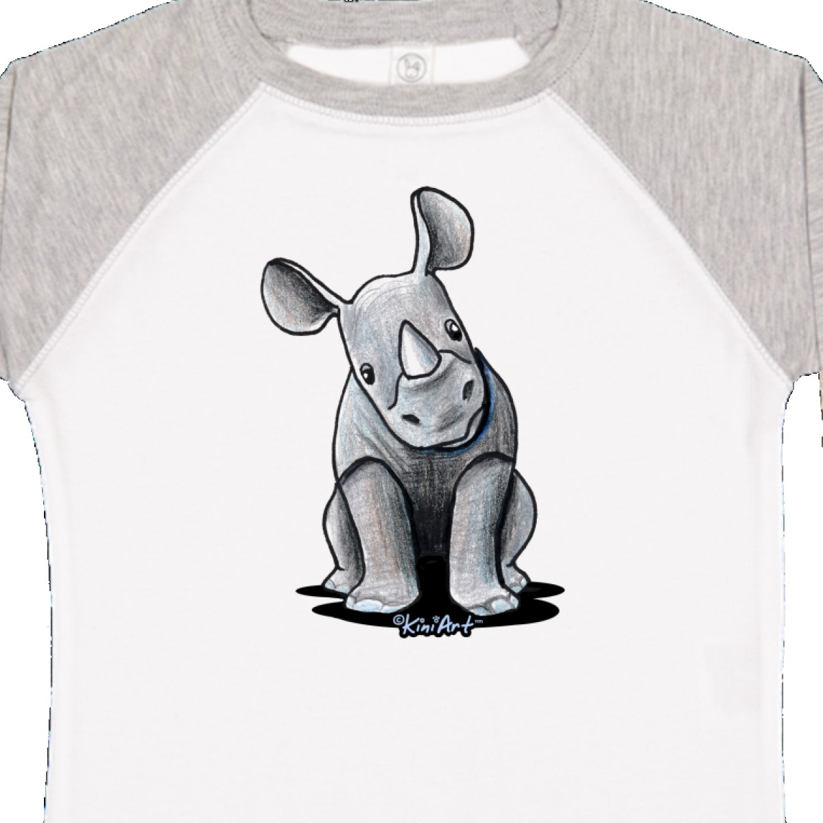 Inktastic-Curious-Rhinos-Toddler-T-Shirt-KiniArt-Rhino-Rhinoceros-Art-Cartoon thumbnail 38
