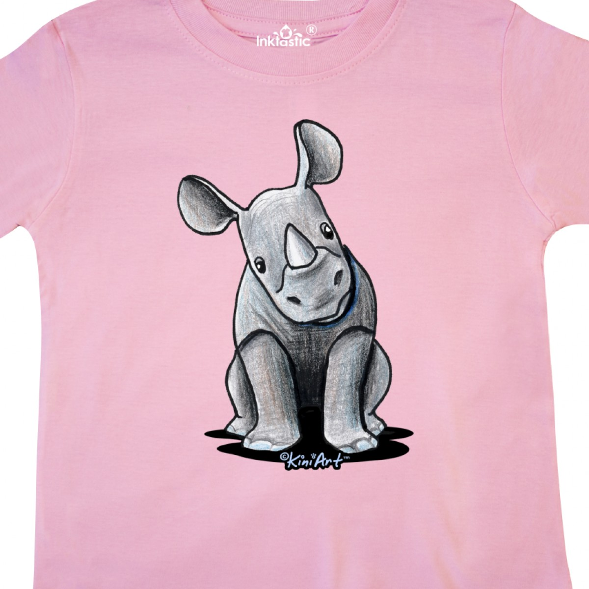 Inktastic-Curious-Rhinos-Toddler-T-Shirt-KiniArt-Rhino-Rhinoceros-Art-Cartoon thumbnail 24
