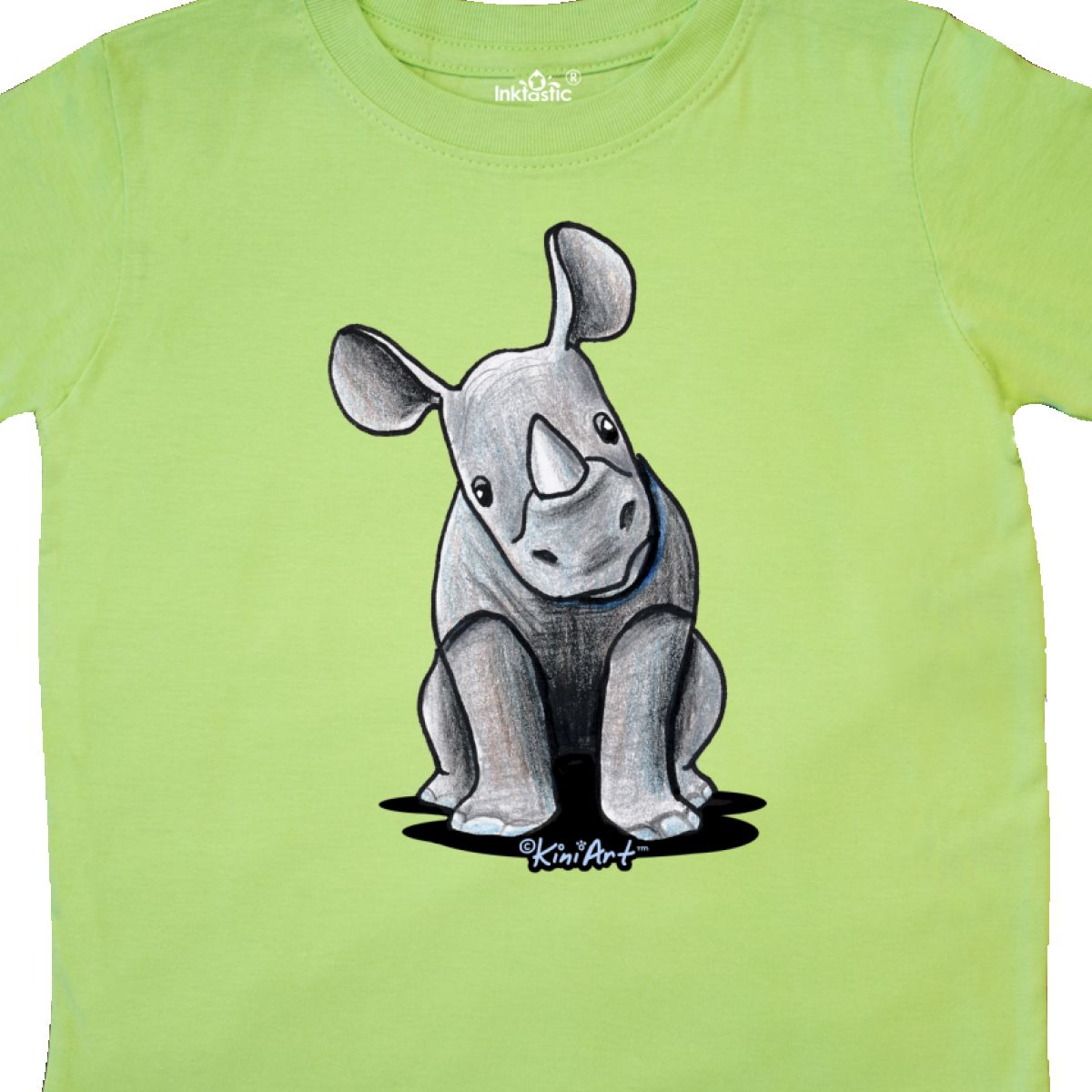 Inktastic-Curious-Rhinos-Toddler-T-Shirt-KiniArt-Rhino-Rhinoceros-Art-Cartoon thumbnail 18