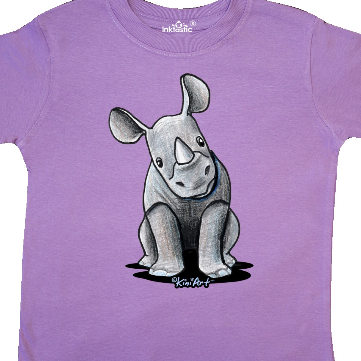 Inktastic-Curious-Rhinos-Toddler-T-Shirt-KiniArt-Rhino-Rhinoceros-Art-Cartoon thumbnail 20
