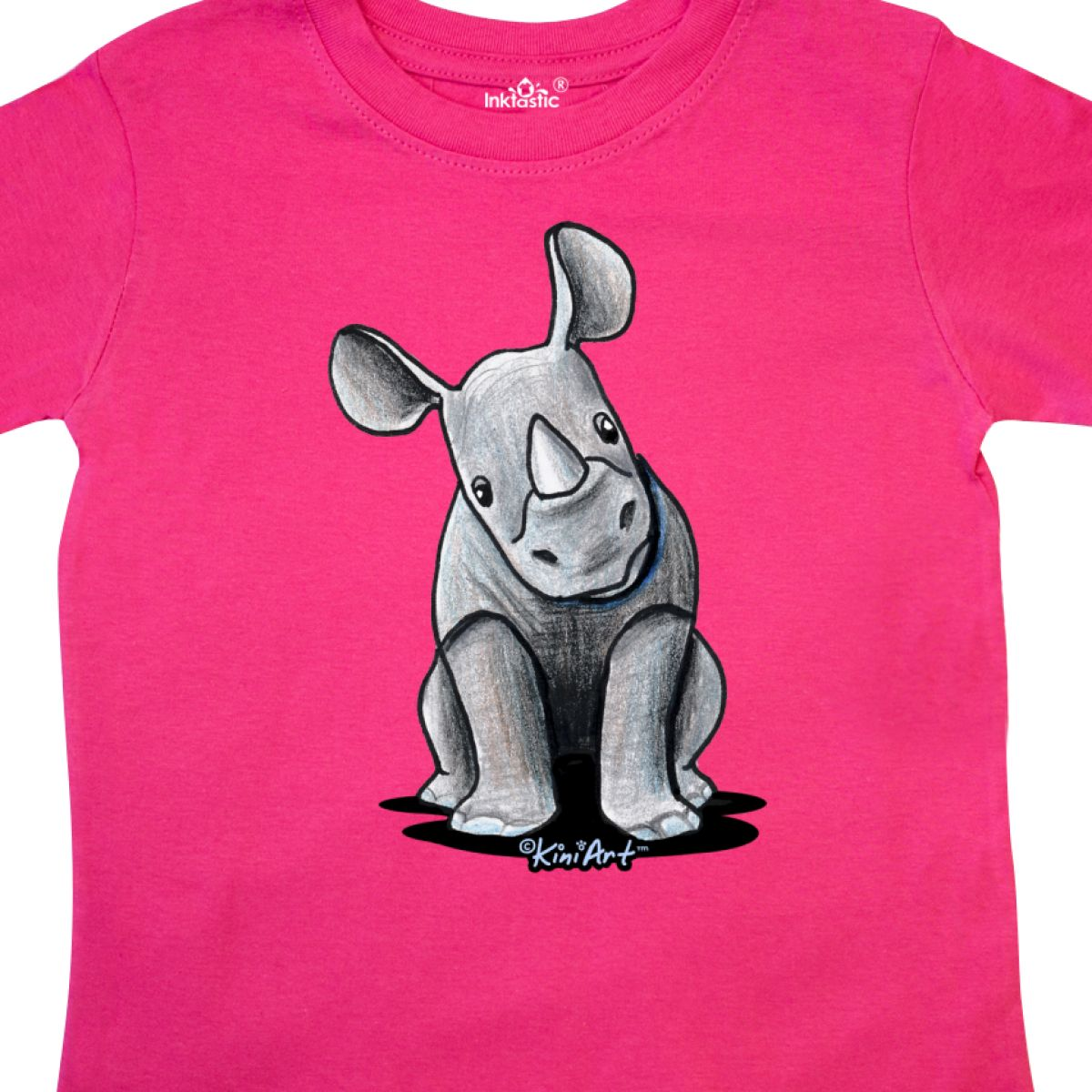 Inktastic-Curious-Rhinos-Toddler-T-Shirt-KiniArt-Rhino-Rhinoceros-Art-Cartoon thumbnail 14