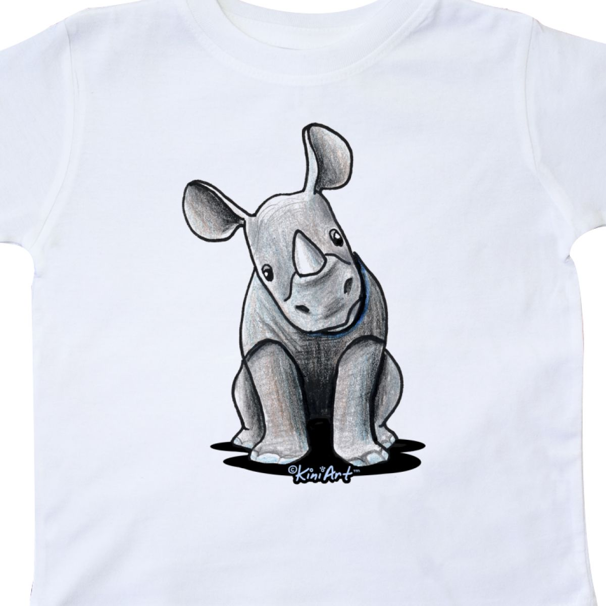 Inktastic-Curious-Rhinos-Toddler-T-Shirt-KiniArt-Rhino-Rhinoceros-Art-Cartoon thumbnail 34