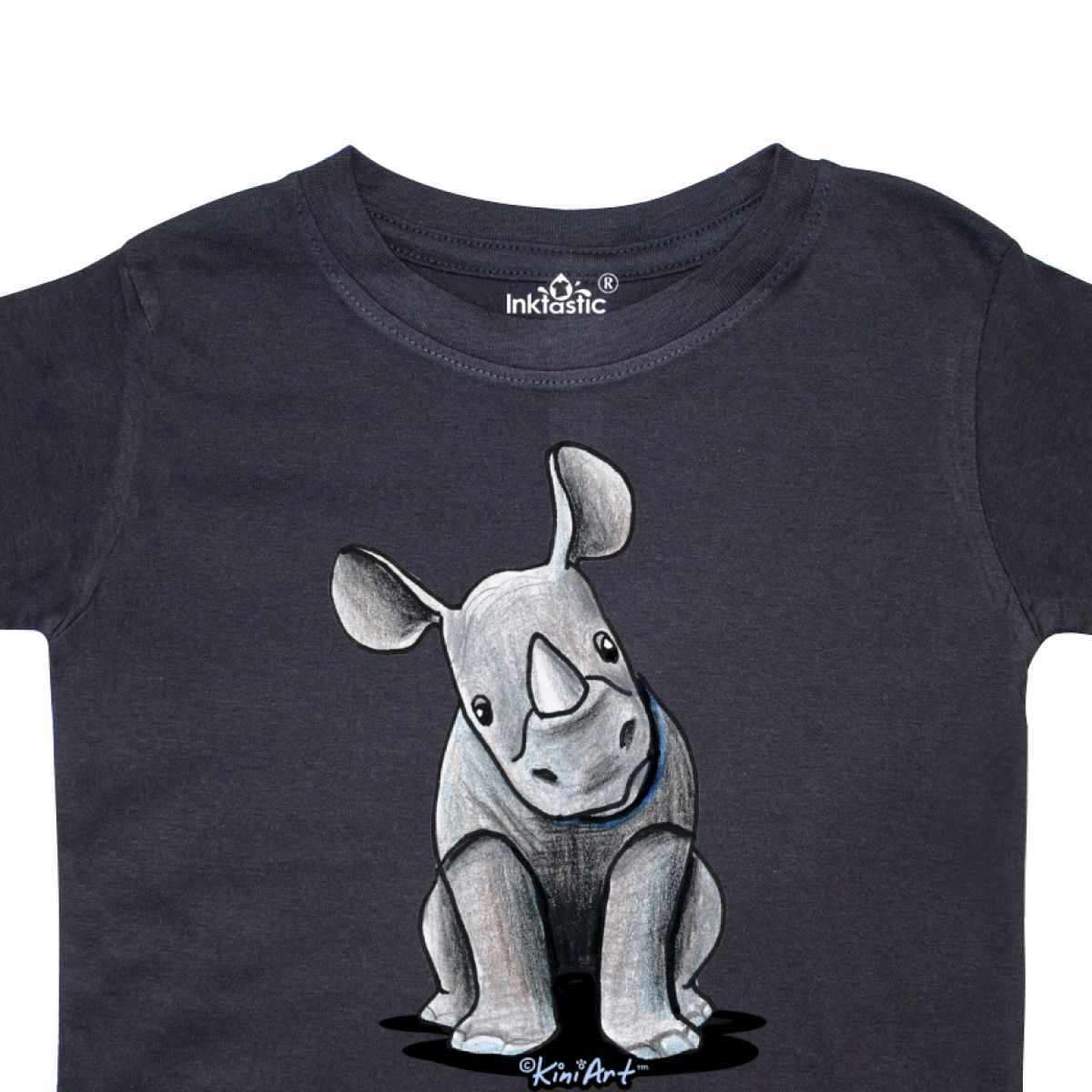 Inktastic-Curious-Rhinos-Toddler-T-Shirt-KiniArt-Rhino-Rhinoceros-Art-Cartoon thumbnail 6